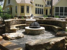 9 Creative and Modern Tricks Can Change Your Life: Fire Pit Wood Hot Tubs fire pit backyard awesome.Fire Pit Chairs Seating Areas easy fire pit back yard. Fire Pit Chairs, Fire Pit Seating, Fire Pit Area, Fire Pit Backyard, Backyard Patio, Fire Pit Video, Easy Fire Pit, Sunken Fire Pits, Concrete Fire Pits