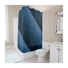 water waves shower curtain ❤ liked on Polyvore featuring home, bed & bath, bath, shower curtains and ocean shower curtains