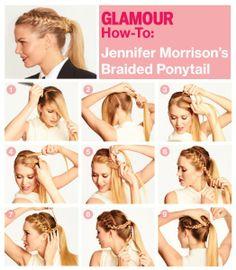 Braid ponytail 523x600 Paso a paso para lucir hermosa en tu fiesta de 15 años