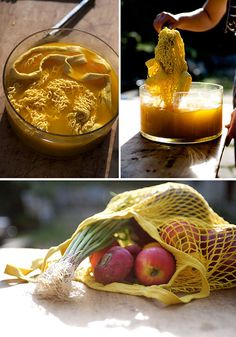 Turmeric powder can be found in your kitchen or market, and makes a beautiful yellow dye. Here are four ways to use it.