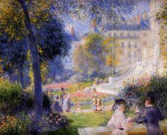 Place de la Trinite - 1875. Пьер Огюст Ренуар - Pierre-Auguste Renoir (1841-1919) • описание картины, скачать репродукцию • Gallerix.ru