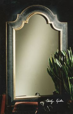 Uttermost Ribbed Arch Antique Mirror In Black With Gold Trim 01760 P Lowest Price Online On All
