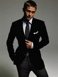 Charlie Hunnam from Sons of Anarchy. He's cute. He has style. He's British. Ohmygosh.