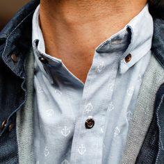 Mode & Costumi: Subtle anchor print