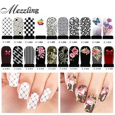 1.85$  Buy here - http://alis5h.shopchina.info/go.php?t=32303964495 - Water Transfer Nail Stickers Decals,10sheets/lot Full Cover Mix Fashion Designs Nail Wraps,DIY Nail Art Decoration Supplies 1.85$ #magazine