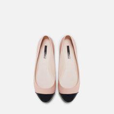 CAP - TOE BALLERINA - Flats - Shoes - WOMAN | ZARA United States