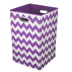 Keep laundry tidy and organized with this vibrantly colored folding laundry bin. Perfect for the bathroom, closet or laundry room, it folds flat when not in use for easy storage, and the lightweight design features handles for effortless carrying.
