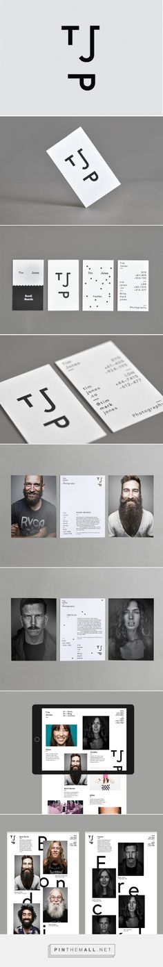 "Tim Jones – Photographer== business promotion for Tim Jones Photography is funny yet clever. He used the first letters in his first and last name and the ""P"" in photographer to form the ""photo"" of a face since from these pins he mainly do portraits"