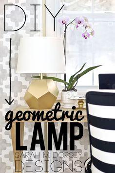 DIY Gold Geometric Lamp | Tutorial