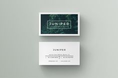 J U N I P E R Business Card Template by 46&2 Collective on @creativemarket