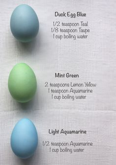 Easter Eggs with Rit Dye....Blow out eggs first.