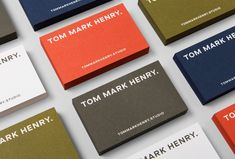 Picture of 3 designed by Christopher Doyle & Co. for the project Tom Mark Henry. Published on the Visual Journal in date 21 March 2018