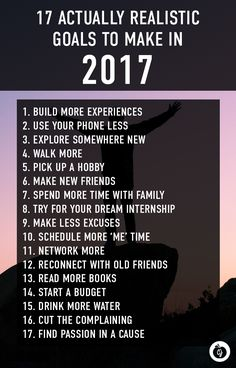 Realistic New Year's resolutions for 2017