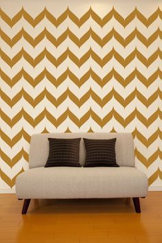 Wall Decals Chevron Wall Pattern Abstract by WallStarGraphics, $150.00