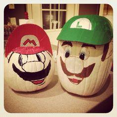 Mario and luigi pumpkins