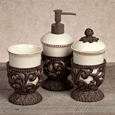 The GG Collection, Goods for the Home  Bathroom Collection  3 pc Vanity Set  $96.00