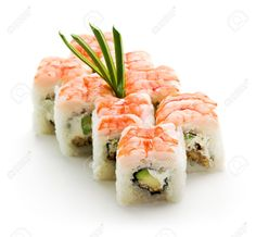 7772666-Japanese-Cuisine-Sushi-Roll-with-Avocado-Cream-Cheese-and-Smoked-Eel-inside-Topped-with-Shrimp-Stock-Photo.jpg (1300×1201)