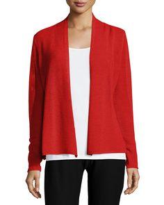 Long-Sleeve Mesh Cardigan, Women's