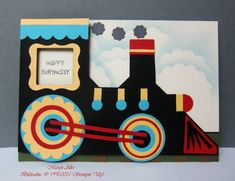 Train-Punch-Art-Card by MargitsSchatztruhe - Cards and Paper Crafts at Splitcoaststampers