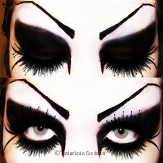 Black swan eye make up. Saw this and thought it looked weird but cool at the same time!!