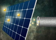 New solar-cell coating could enable a major boost in efficiency. Coating with an organic compound called pentacene provides a way to blow past Shockley-Queisser efficiency limit by allowing each photon to knock two electrons loose. Solar Energy Panels, Solar Panels For Home, Best Solar Panels, Planetary System, Alternative Energy Sources, Solar Roof, Solar Installation, Solar House, Solar Charger
