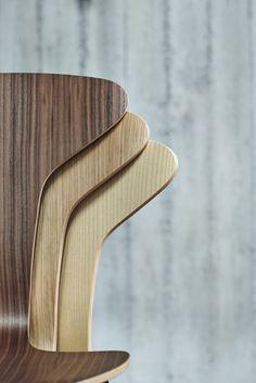 Stackable wooden chair MUNKEGAARD Munkegaard chair Collection by HOWE | design Arne Jacobsen