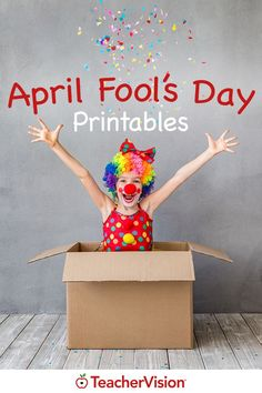 Have a little April Fool's Day fun with your students using our activities and printables! Spring Activities, Fun Activities, Halloween Quotes, Funny Halloween, Adventure Quotes, Adventure Time, Cheesy Jokes, Jokes For Kids, April Fools Day