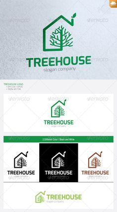 Treehouse Logo Design Template Vector #logotype Download it here:  http://graphicriver.net/item/treehouse/4777325?s_rank=1211?ref=nesto