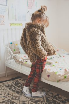 stylin' little one // leopard + plaid