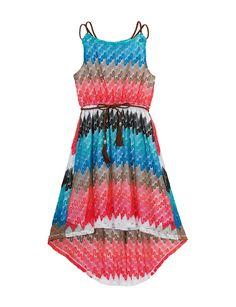 Cute tween dresses! #EmilyWest Multicolor Crochet Dress in sizes 7-16. Save 20% at @stagestores  #fashion #tween #girls #Easter #party #tweenfashion #fashionfriday