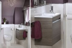 The halo cloakroom unit is very simple and practical, adding valuable bathroom storage space to one of the smallest rooms in your home Fitted Bathroom Furniture, Timeless Bathroom, Modular Furniture, Bathroom Storage, Bathroom Inspiration, Ranges, Storage Spaces, Halo, Bathrooms