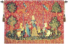 Lady and the Unicorn Smell Wall Tapestry