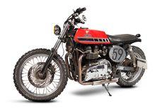 Go go go! Triumph Bonneville Street Tracker by Maria Motorcycles #streettracker #motos | caferacerpasion.com