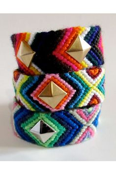 Paola Loves To Shop Jumbo Studded Friendship Bracelet, $18, available at Etsy.