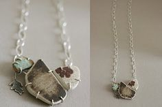 absolutely stunning beach pottery necklace from Lila Ruby King