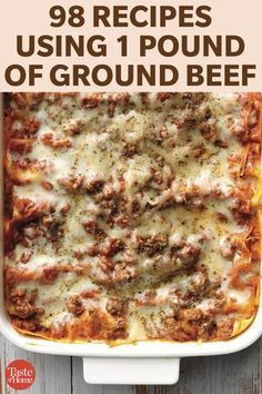 Ground Beef Dishes, Ground Beef Recipes For Dinner, Dinner With Ground Beef, Ground Beef Recipes Easy, Easy Dinner Recipes, Healthy Ground Beef, Recipe 1 Lb Ground Beef, Dinner Ideas With Hamburger, Minced Beef Recipes Easy