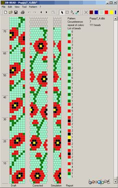 tubular bead crochet rope - poppy 7 - http://beadpet.com/images/crochet_ropes_schemes/flowers/Poppy7_4.png