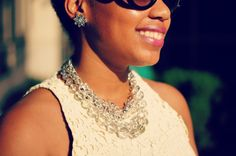 Dry Goods Earrings, Necklace via Sassy City Chicks Fashion Bash