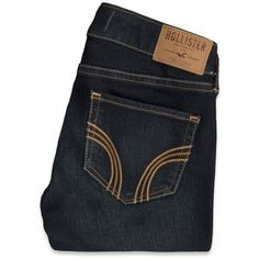 Hollister Super Skinny Ankle Jeans ($25) ❤ liked on Polyvore featuring jeans, pants, bottoms, trousers, frayed jeans, ankle length skinny jeans, dark-wash jeans, short pants and skinny fit jeans