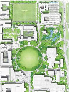 The University of Toronto is undertaking a competition to create landmark quality grounds for its main St. George Campus in Downtown Toronto. We look at the four competing proposals. Architecture Mapping, Architecture Images, Landscape Architecture Design, Architecture Graphics, Park Landscape, Landscape Plans, Plan Maestro, University Of Toronto, Site Plans