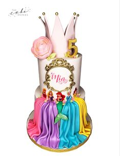 This cake features Disney Princesses like Ariel, Belle, Rapunzel, Sleeping Beauty and Queen Elsa. Click the link below to learn how you can order your celebration cake today. Disney Princess Cookies, Disney Princess Birthday Cakes, Disney Themed Cakes, Cinderella Birthday, Belle Birthday Cake, 8th Birthday, Mini Tortillas, Rapunzel Cake, Belle Cake
