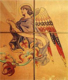 Angel by Jan Matejko Art Database, Romanticism, Jaba, Mythology, Illustration Art, Illustrations, Folk, Polish, Paintings