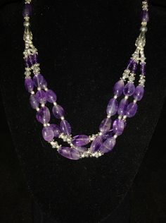 Amethyst Necklace by KarinsForgottenTreas on Etsy