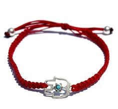 Red Hamsa Bracelet For Protection and Good Luck by luckyamulets