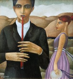 Scottish Artist Ian McWHINNIE-The Red Whistle