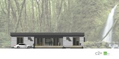 Confluence Series - IdeaBox Homes Modern Prefab Homes, Modular Homes, Modular Home Builders, Small House Floor Plans, Contemporary Cottage, River House, Sustainable Living, Tiny House, Building A House