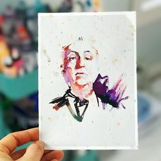 Alfred Hitchcock watercolor illustration by Marta Spendowska : verymarta.com Abstract Watercolor Art, Watercolor Illustration, Watercolor Paintings, Wall Art Prints, Fine Art Prints, Alfred Hitchcock, Painting Frames, Landscape Paintings, Framed Art