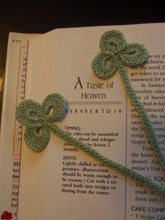 Bookmark Shamrock Crocheted Sage Green by TheCrochetLady1 on Etsy, $1.25