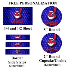 Cleveland Indians Edible Image Frosting Sheet #24 (different sizes)