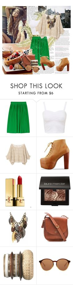 """""""""""You only live once, but if you do it right, once is enough."""" ― Mae West"""" by savemilkdrinkblood ❤ liked on Polyvore featuring French Toast, Jil Sander, KENNY, Jeffrey Campbell, Yves Saint Laurent, Laura Mercier, Madewell, New Look and The Row"""